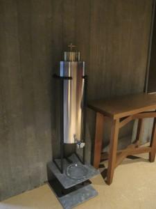 Weihwasserbehälter in St. Anna