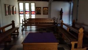 Werktagskirche im Seitenschiff