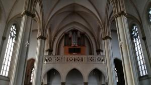 Orgelempore über dem Eingang