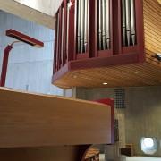 Blick auf die Orgel